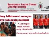 Od 7.XI w Warszawie Drużynowe Mistrzostwa Europy w szachach